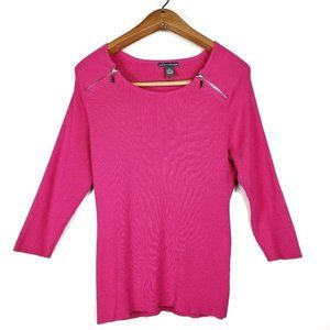 Chelsea & Theodore ribbed knit sweater top